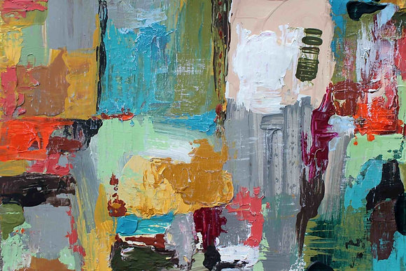 Abstract Embellished Canvas Giclee