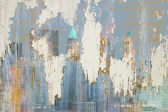 New York 2001 : Hand Embellished Canvas Giclee
