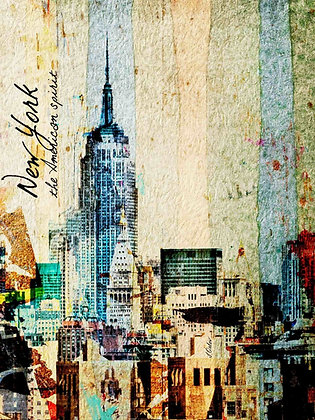 New York the American Spirit,Hand Embellished