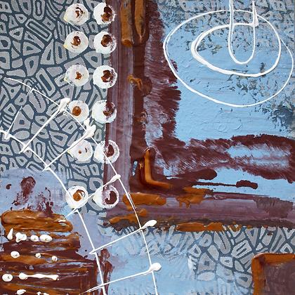 IMPRESSION, Hand  Embellished Canvas Giclee