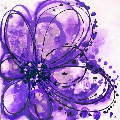 "24 x 24""  Purple Splash by Irena Orlov"