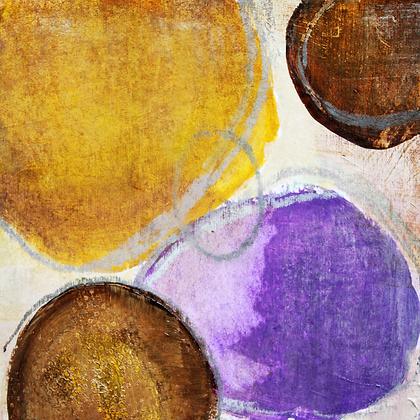 Setting Sun I, Embellished Canvas Giclee