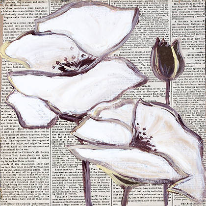 The Antique Touch , Hand Embellished Canvas Giclee