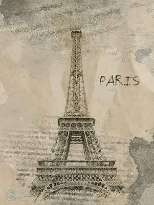 Paris, Rainy Mood  Embellished Canvas Giclee