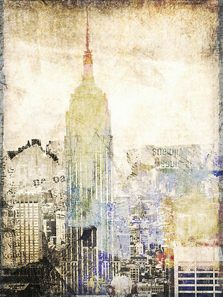 New York City, Empire State, Hand Embellished