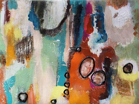 Freeflow, Embellished Canvas Giclee