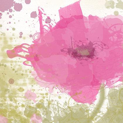 Modern pink Hand Embellished Giclee