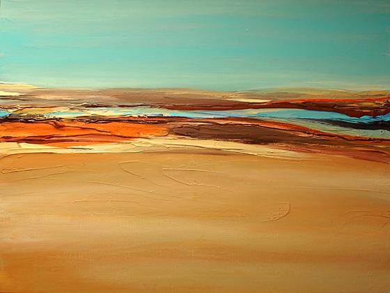 Desert, Hand Embellished Canvas Giclee