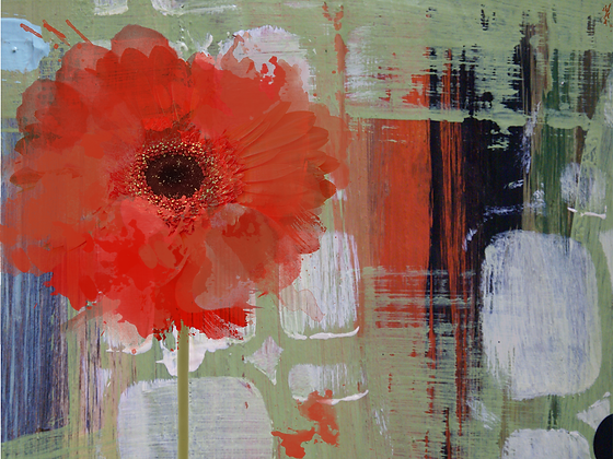 Blooming, Hand Embellished Canvas Giclee