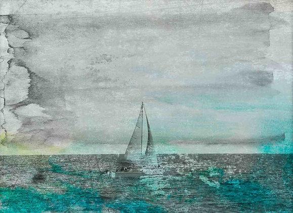 Blue Winds .Embellished Canvas Giclee