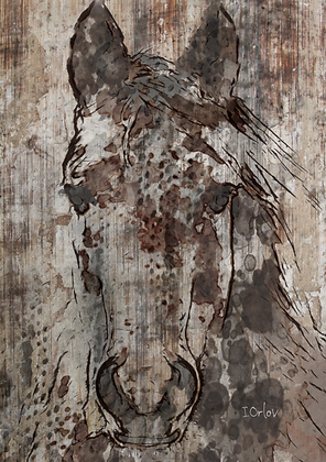Black Angel, Hand Embellished Canvas Giclee