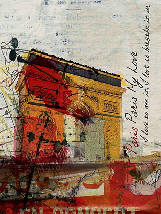 Paris, Paris, Hand Embellished Giclee