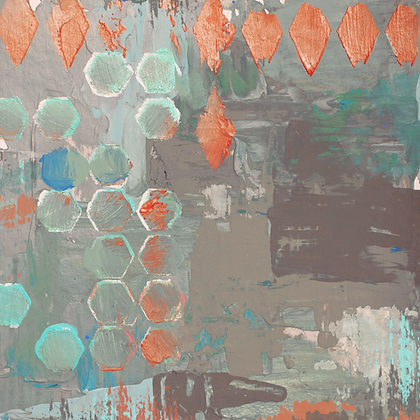 GeoMix II, Embellished Canvas Giclee
