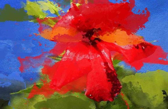 Floral Sweet, Embellished Canvas Giclee