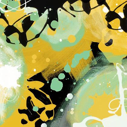 Forest I, Hand Embellished Giclee
