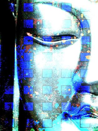 """Budha 40x30"""" Hand Embellished Giclee"""