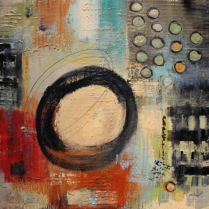 Chaos, Embellished Canvas Giclee