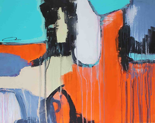 """16 x 20"""" Abstraction 1813  by Irena Orlov"""