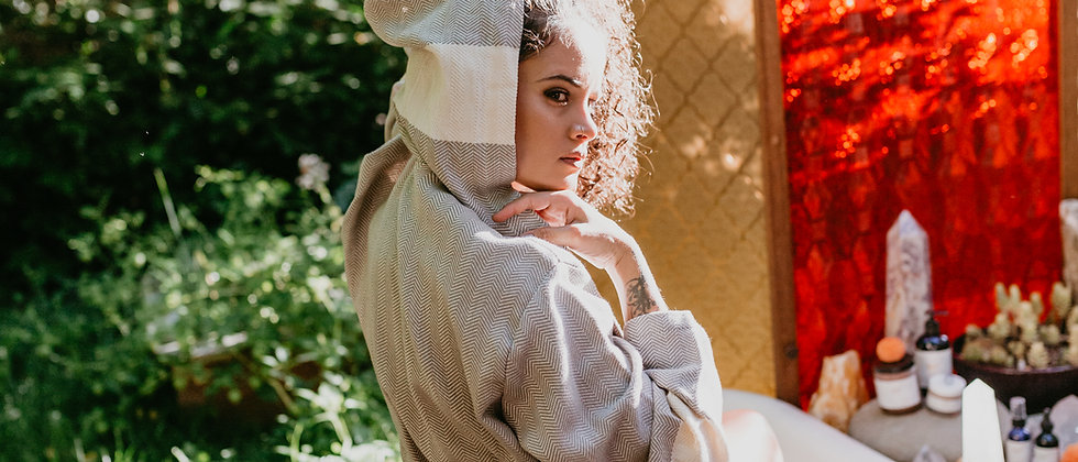 ASCENSION - Hooded Cotton Robe