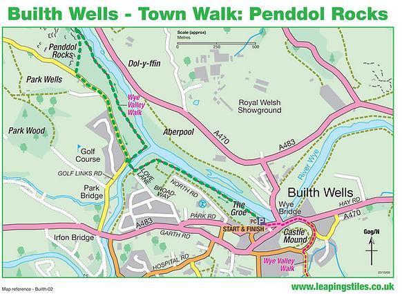 Builth Wells Town Walk: Penddol Rocks