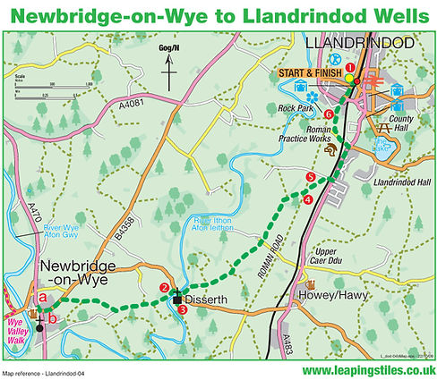 Newbridge-on-Wye to Llandrindod Wells