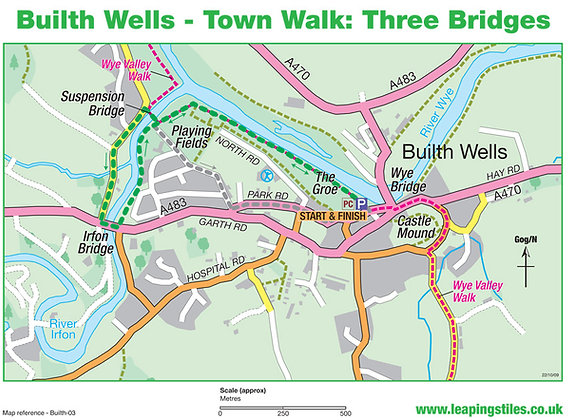 Builth Wells Town Walk: Three Bridges