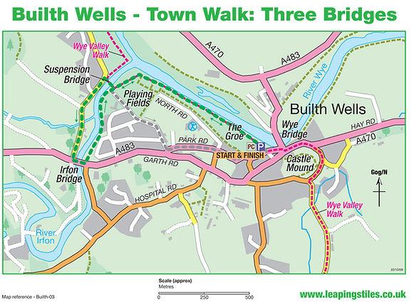 Builth Wells Town Walk: Three Bridges