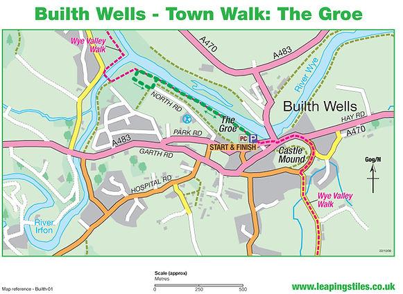 Builth Wells Town Walk: The Groe