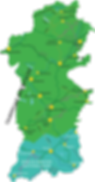 Powys Map Beacons highlighted.png