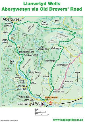 Llanwrtyd Wells: Abergwesyn via Old Drovers Road
