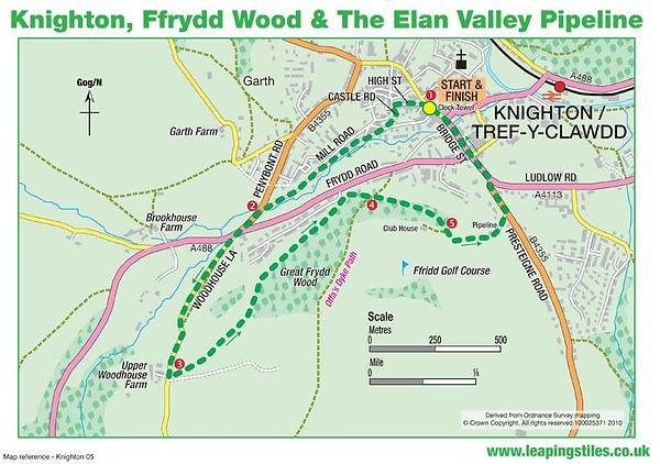 Knighton, Ffrydd Wood and The Elan Valley Pipeline