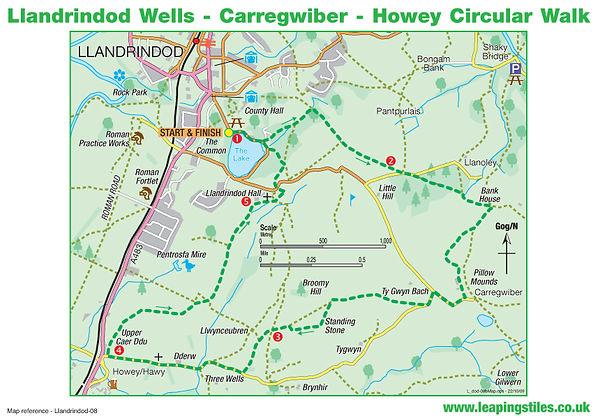 Llandrindod Wells: Howey Circular Walk, Carregwiber