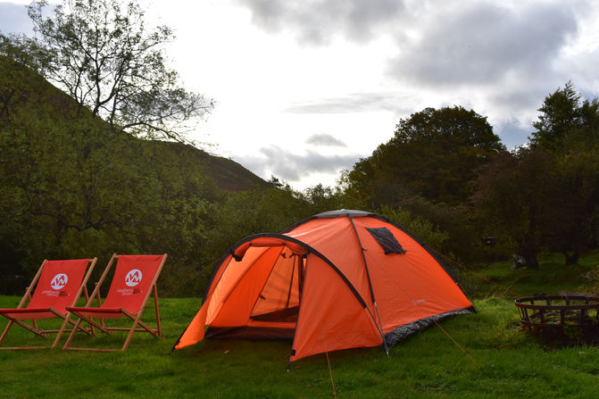 Mid Wales My Way Tent and Chairs