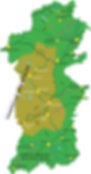 Powys Map Cambrian highlighted.png