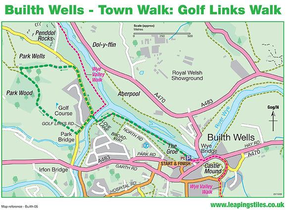 Builth Wells Town Walk: Golf Links Walk