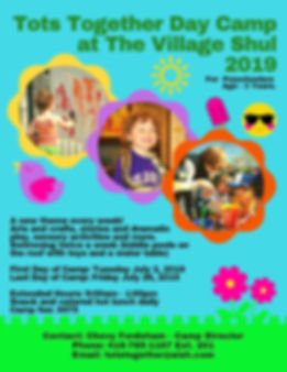 Tots Together Day Camp The Village Shul