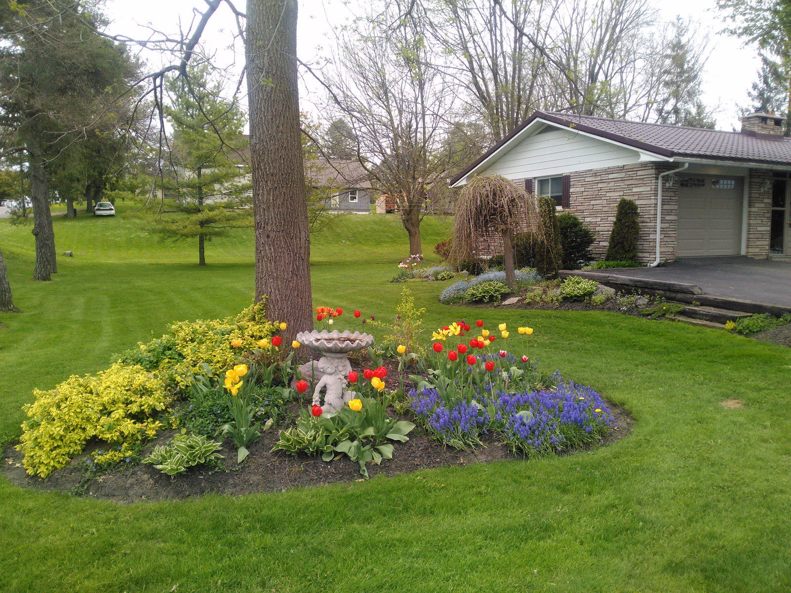 View Of Corner Flowerbed From Road