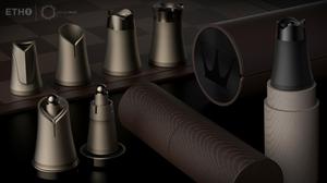 Crownes, Kickstarter, chess set, chess game, chess pieces, portable nesting