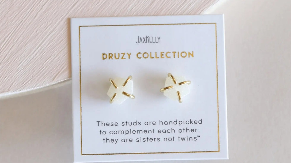 Jax Kelly pronged gem stud earring
