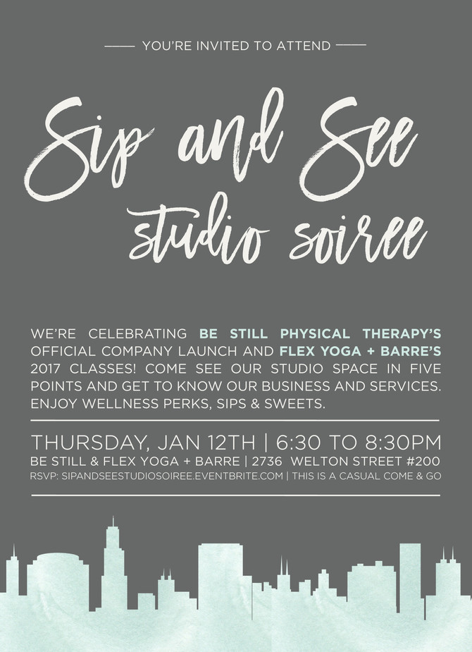 Sip & See Studio Soiree