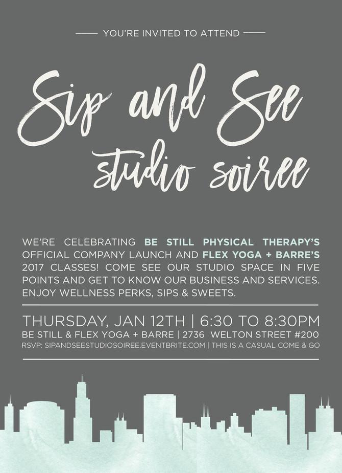 Sip & See Studio Soiree