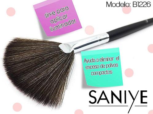 Brocha Abanico Para Perfeccionar Maquillaje B1226 (12 Piezas)