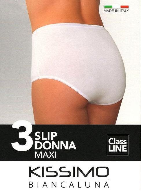 Slip Donna Maxi KISSIMO, Bianco, 3 Paia