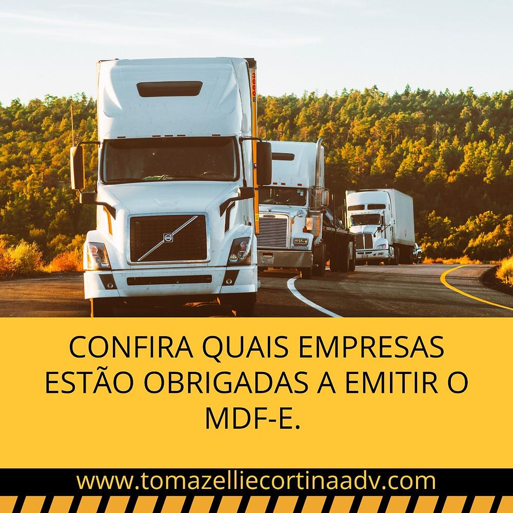 transporte cte mdf-e caminhão motorista empresa