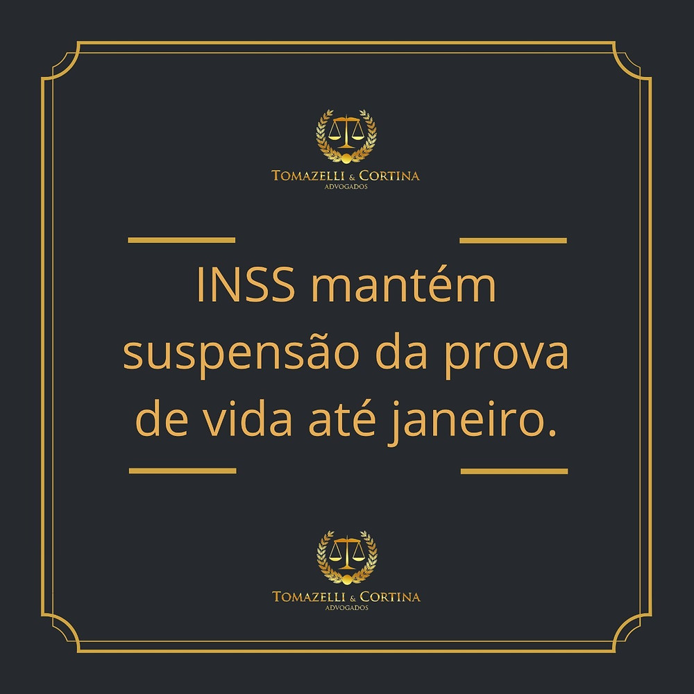 INSS mantém suspensão da prova de vida até janeiro