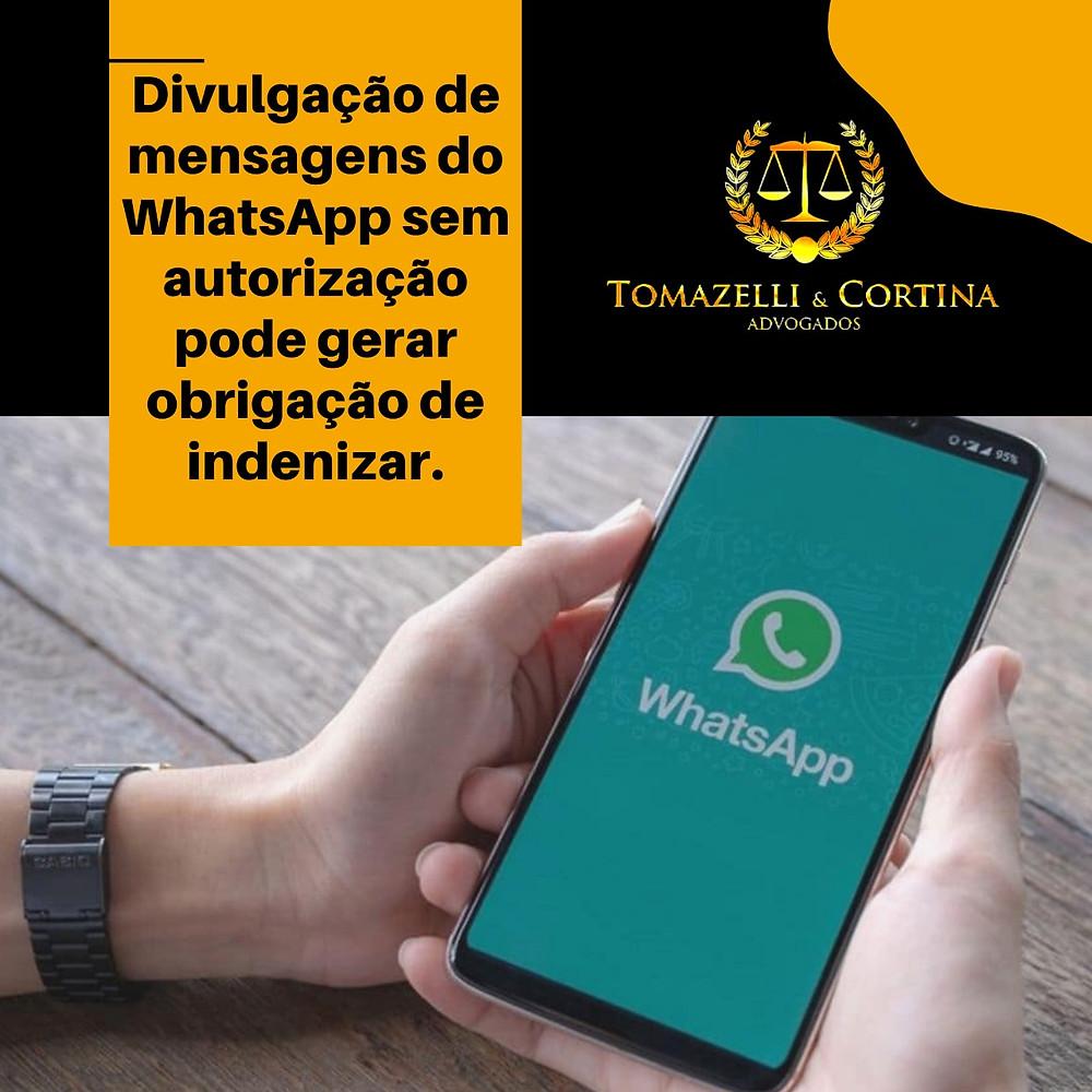 whatsApp indenizar danos morais divulgação
