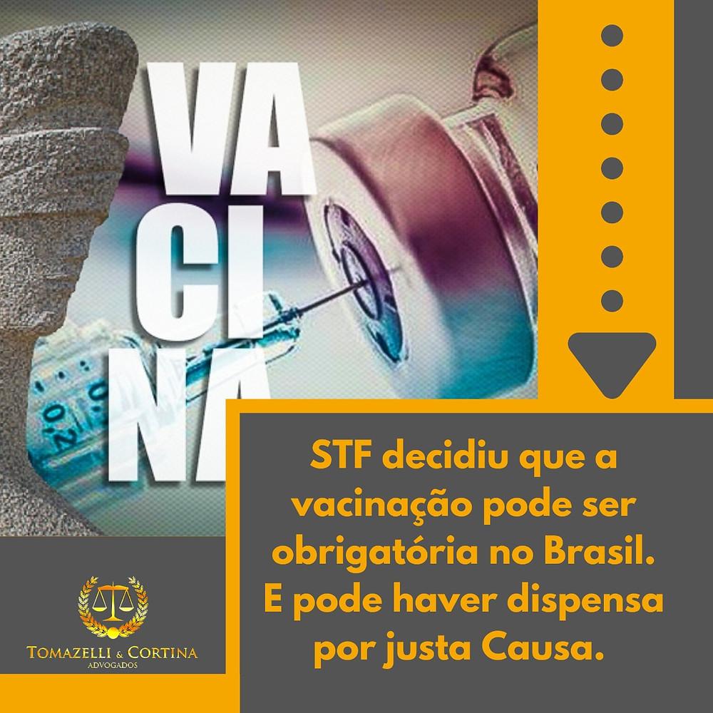 vacinação obrigatória covid justa causa brasil stf