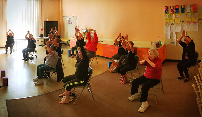 Chair yoga class for seniors in San Diego, CA