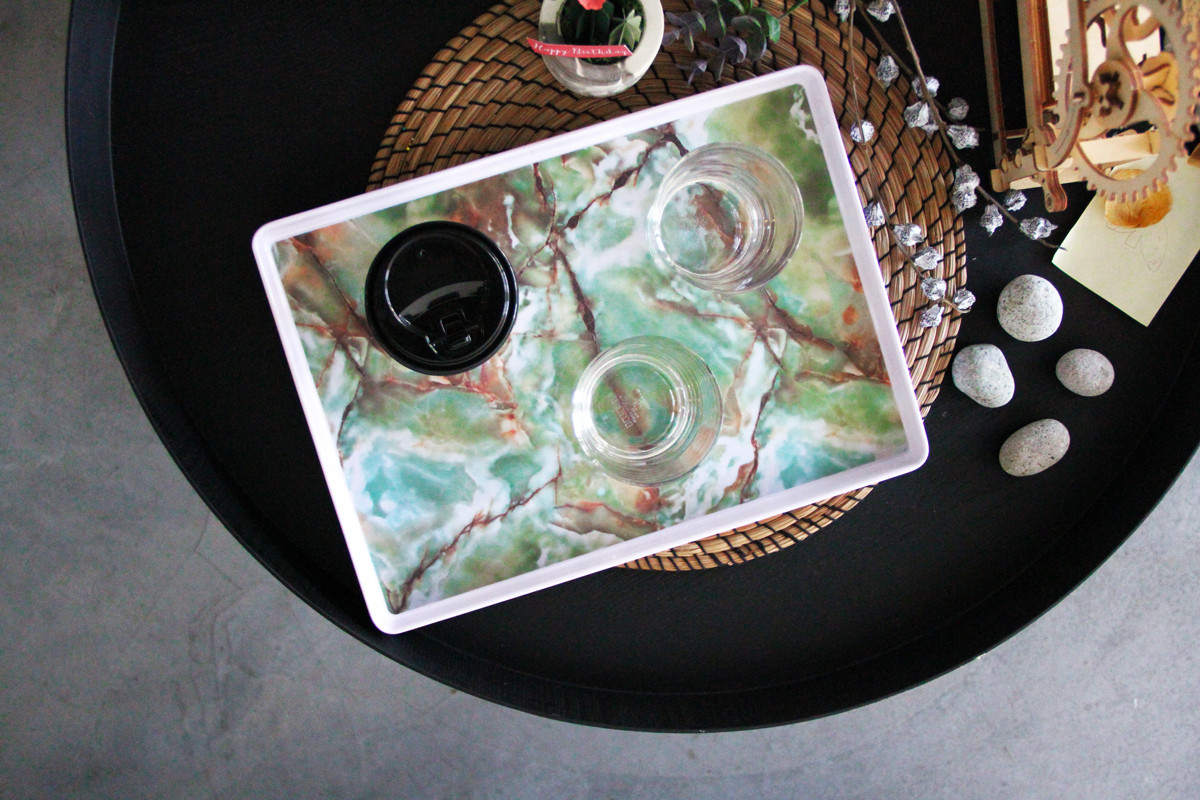 Marble Pattern Serving Tray