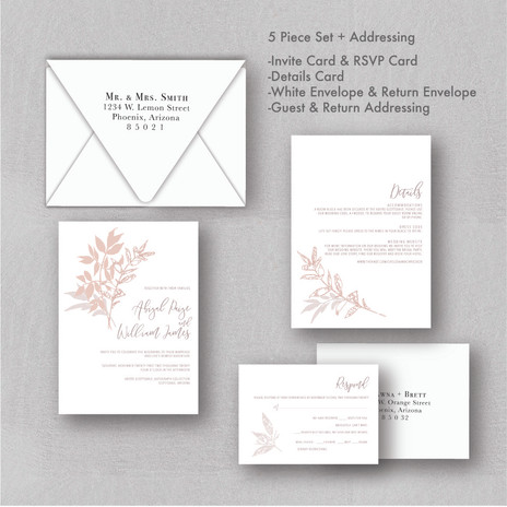 Neutral Wedding Invitation